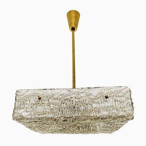 Lampada da soffitto in vetro di Rupert Nikoll, Austria, anni '50