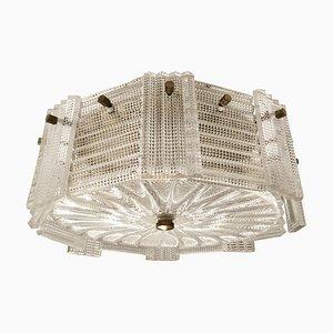 Glas Deckenlampe von Carl Fagerlund für Orrefors, 1960er