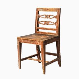 Schwedischer Esszimmer- oder Schreibtischstuhl aus Pinienholz, 19. Jh.