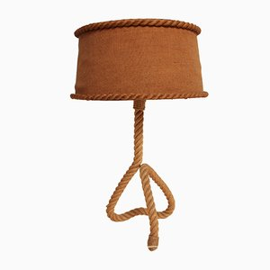 Vintage Rope Table Lamp by Adrien Audoux & Frida Minet, 1950