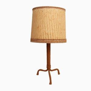 Lámpara de mesa de cuerda de Audoux Minet, años 50