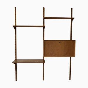 Mueble de pared vintage de roble de Poul Cadovius para Cado, años 60