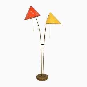 Lampada da terra Japonka in ottone di Napako, anni '60