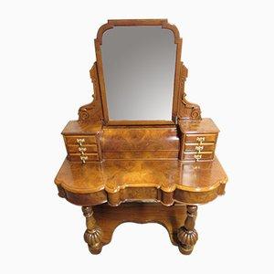 Victorian Duchess Burr Walnut Dressing Table, 1860s