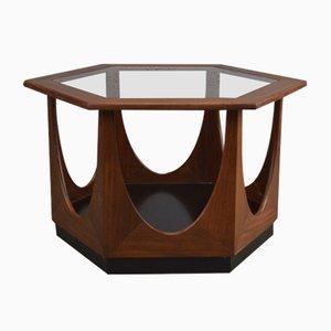 Tavolino da caffè Mid-Century esagonale di Victor Wilkins per G-Plan