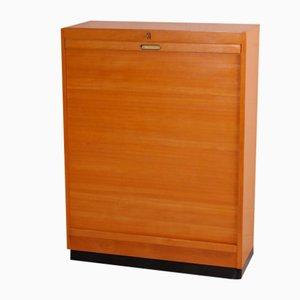 Free-Standing Bauhaus Style Tambour Cabinet from EKA Werke, 1950s