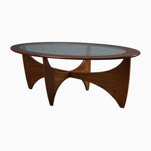 Table Basse Ovale Astro Mid-Century en Teck par Victor Wilkins pour G-Plan