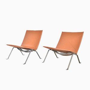 PK22 Lounge Chairs by Poul Kjærholm for E. Kold Christensen, 1960s, Set of 2
