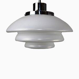 Lámpara de techo vintage de vidrio opalino