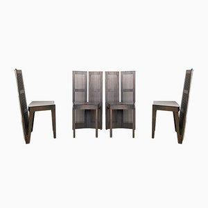 Lubekka Stühle von Andrea Branzi für Cassina, 1970er, 4er Set