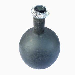 Venezianische Vintage Scavo Vase aus geblasenem Kunstglas