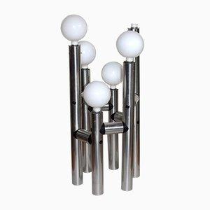 Große Aluminium Stehlampe von JT Kalmar, 1960er