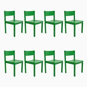 Mid-Century Modern Dining Chairs from E. & A. Pollak, Set of 8