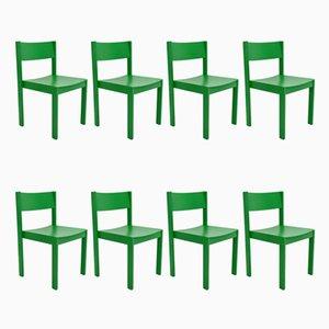 Moderne Mid-Century Esszimmerstühle von E. & A. Pollak, 8er Set