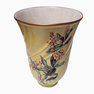 Vase Antique en Porcelaine Peinte à la Main de Lyngby, 1871