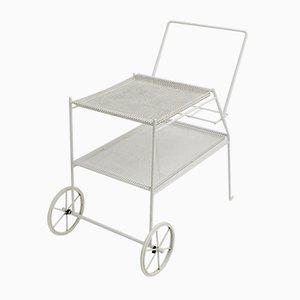 White Metal Bar Cart, 1960s