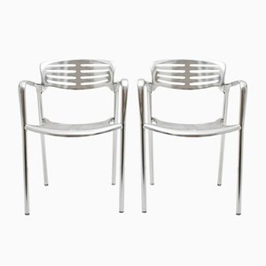 Aluminum Chairs by Jorge Pensi for Amat 3, 1980s, Set of 2