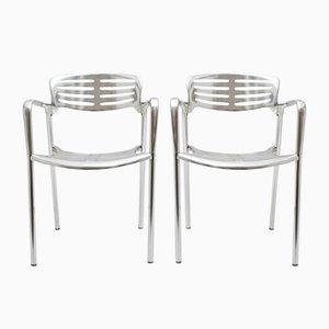 Sedie in alluminio di Jorge Pensi per Amat 3, anni '80, set di 2