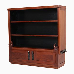 Dutch Mahogany Art Deco Amsterdam School Bookcase by Willem Raedecker, 1920s