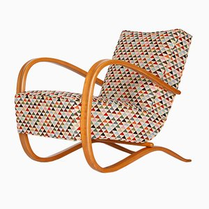Art Deco Lounge Chair by Jindřich Halabala for UP Závody, 1930s