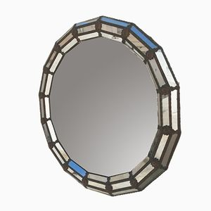 Octagon Bronze and Crystal Mirror, 1970s