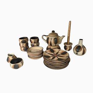 24-teiliges deutsches Vintage Kaffeeservice aus Keramik von Sgrafo Modern, 1960er