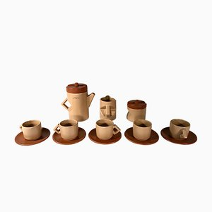 Service à Café en Céramique par Lusso Ceramic, Italie, 1976, Set de 13