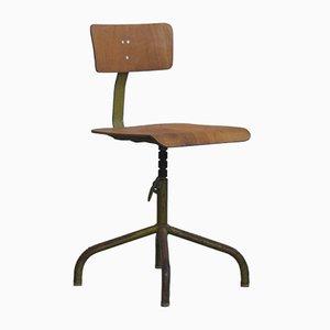 Chaise d'Atelier Mid-Century Industrielle, Pologne, 1960s