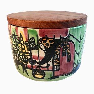 Pot Majas Majeri en Céramique par Anita Nylund pour Gantofta Sweden, 1960s