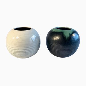 German Ceramic Vases Set by Wilhelm Diebener for Gotha Keramik, 1930s