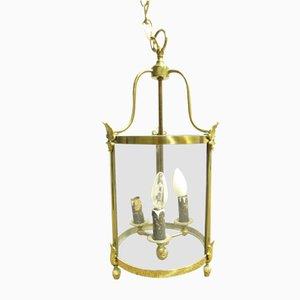 Antike französische Deckenlampe aus Messing