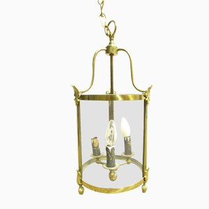 Antique French Brass Ceiling Light