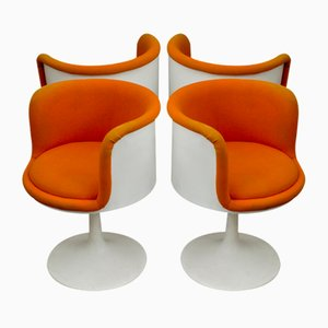 Vintage Dutch Formica Swivel Armchairs from TopForm, 1970s, Set of 4