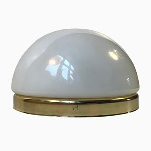 Vintage Danish Opaline Wall Sconce by Odreco, 1970s
