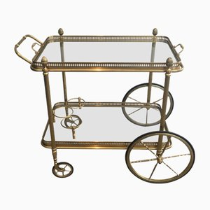 Neoclassical Style Brass Drinks Trolley, 1940s