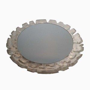 Espejo iluminado de plástico moldeado, años 70