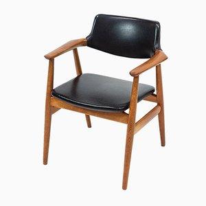 Modell GM11 Armlehnstuhl mit Gestell aus Teak & Sitz aus Skai von Svend Åge Eriksen für Glostrup, 1960er
