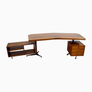 Italienischer Schreibtisch in Bumerang-Optik, 1960er
