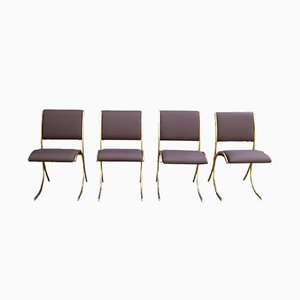Vintage Chairs from Maison Jansen, 1970s, Set of 4