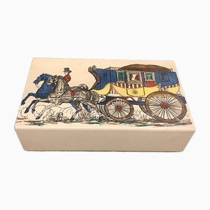 Mid-Century Card Box by Fornasetti, 1950s