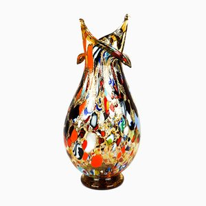Amber Murrina & Multicolored Murano Glass Vase by Imperio Rossi for Made Murano Glass, 2019