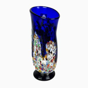 Murrina Millefiori Technique Glass Vase by Imperio Rossi for Made Murano Glass, 2019