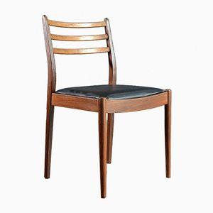 Mid-Century Stühle mit Gestell aus Teak & Sitz aus Kunstleder von G-Plan, 4er Set