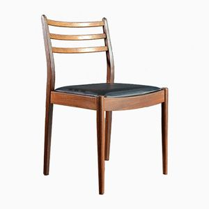 Mid-Century Teak and Leatherette Chairs from G-Plan, Set of 4