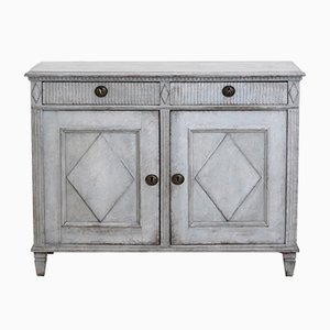 19th-Century Gustavian Carved Wooden Cabinet