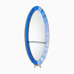 Miroir avec Console Mid-Century de Cristal Art