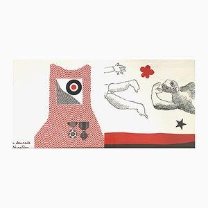 Doppelseitige Chasse Aux Honneurs Lithografie von Enrico Baj für Rosseau, 1972
