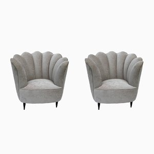 Flora Armchairs, 1950s, Set of 2