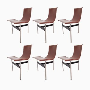 LC3 T Chairs by William Katavolos & Ross Littell for Laverne International, 1950s, Set of 6