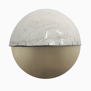 Raku-Yaki Applique D Wall Light by Emmanuelle Simon